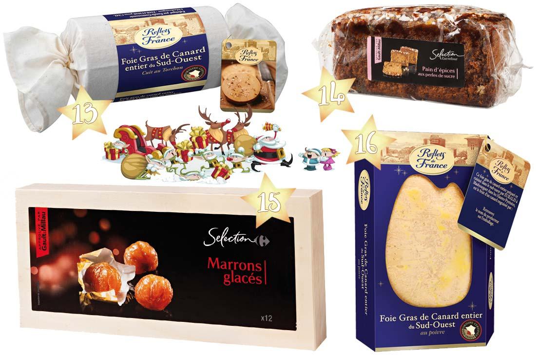 sélection foie gras pour Noël 2016 chez Carrefour
