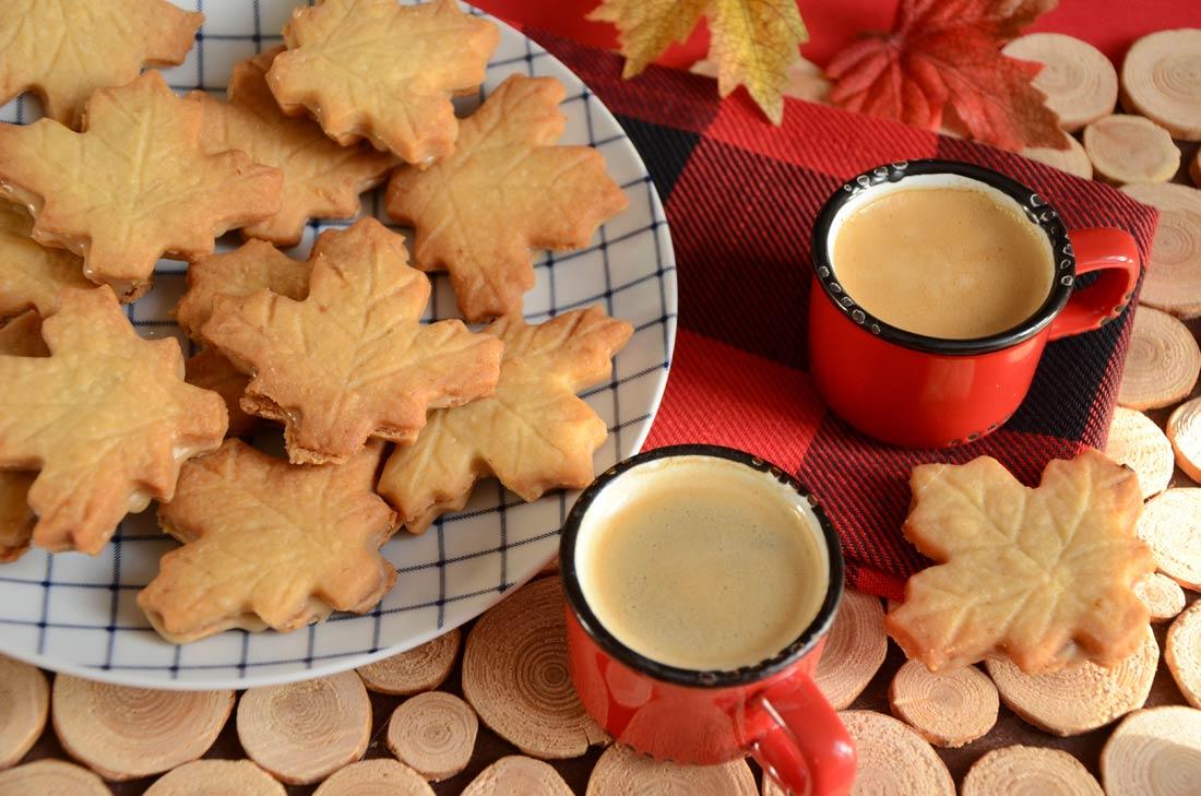 biscuits feuilles d'érable fait maison