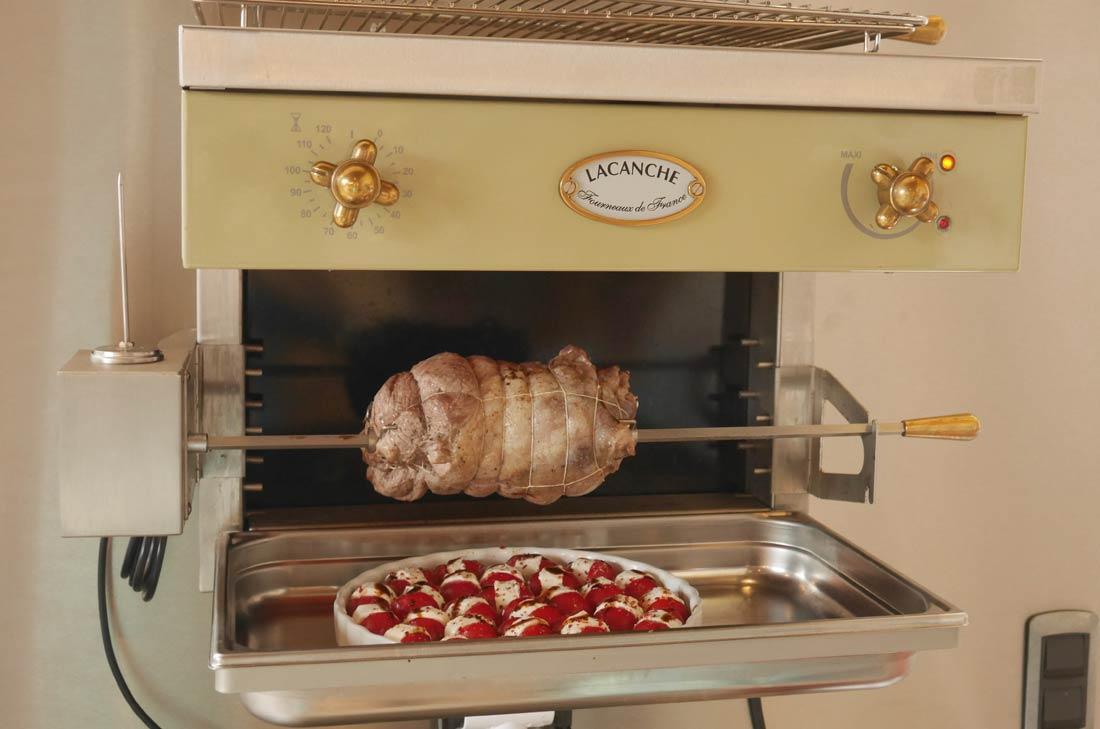 cuisson à la rôtissoire de Lacanche