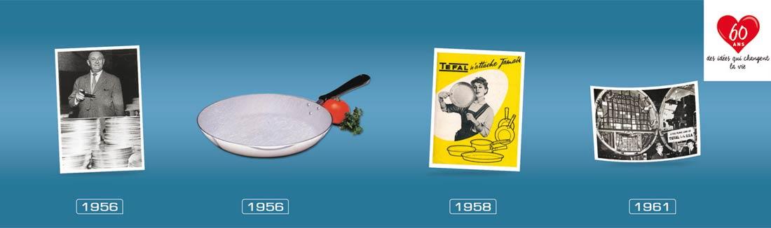 évolution Tefal de 1956 à 1961