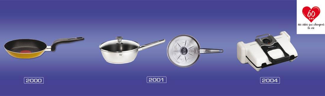 évolution Tefal de 2000 à 2004