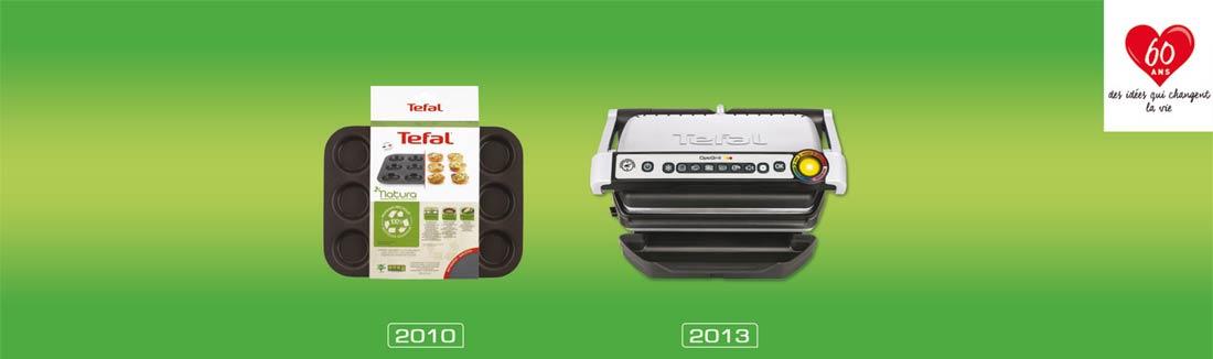 évolution Tefal de 2010 à 2013
