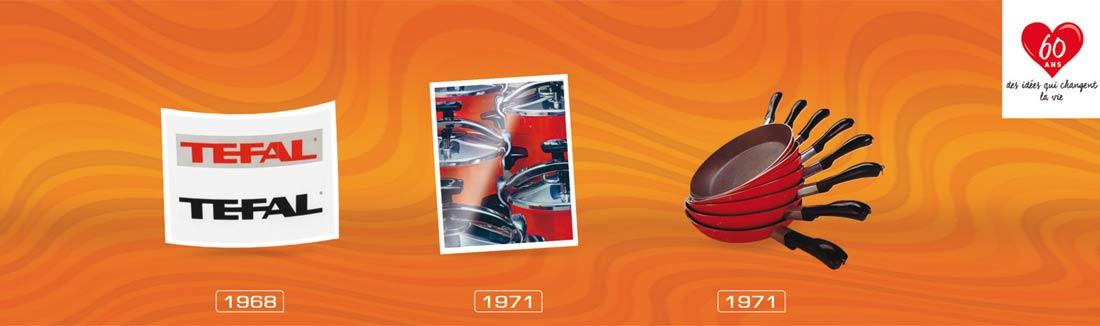 évolution Tefal de 1968 à 1971