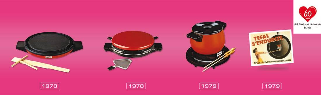 évolution Tefal de 1978 à 1979