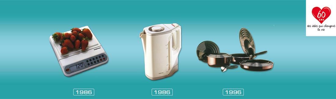 évolution Tefal de 1986 à 1996