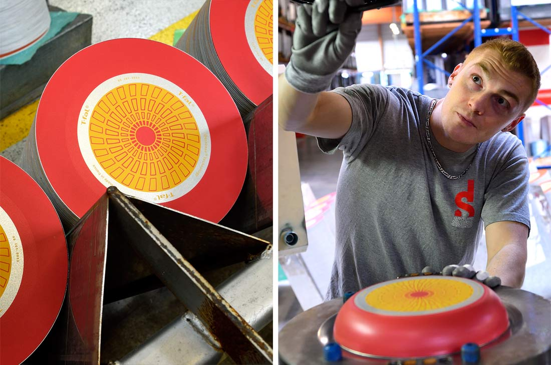 fabrication d'une poêle Téfal
