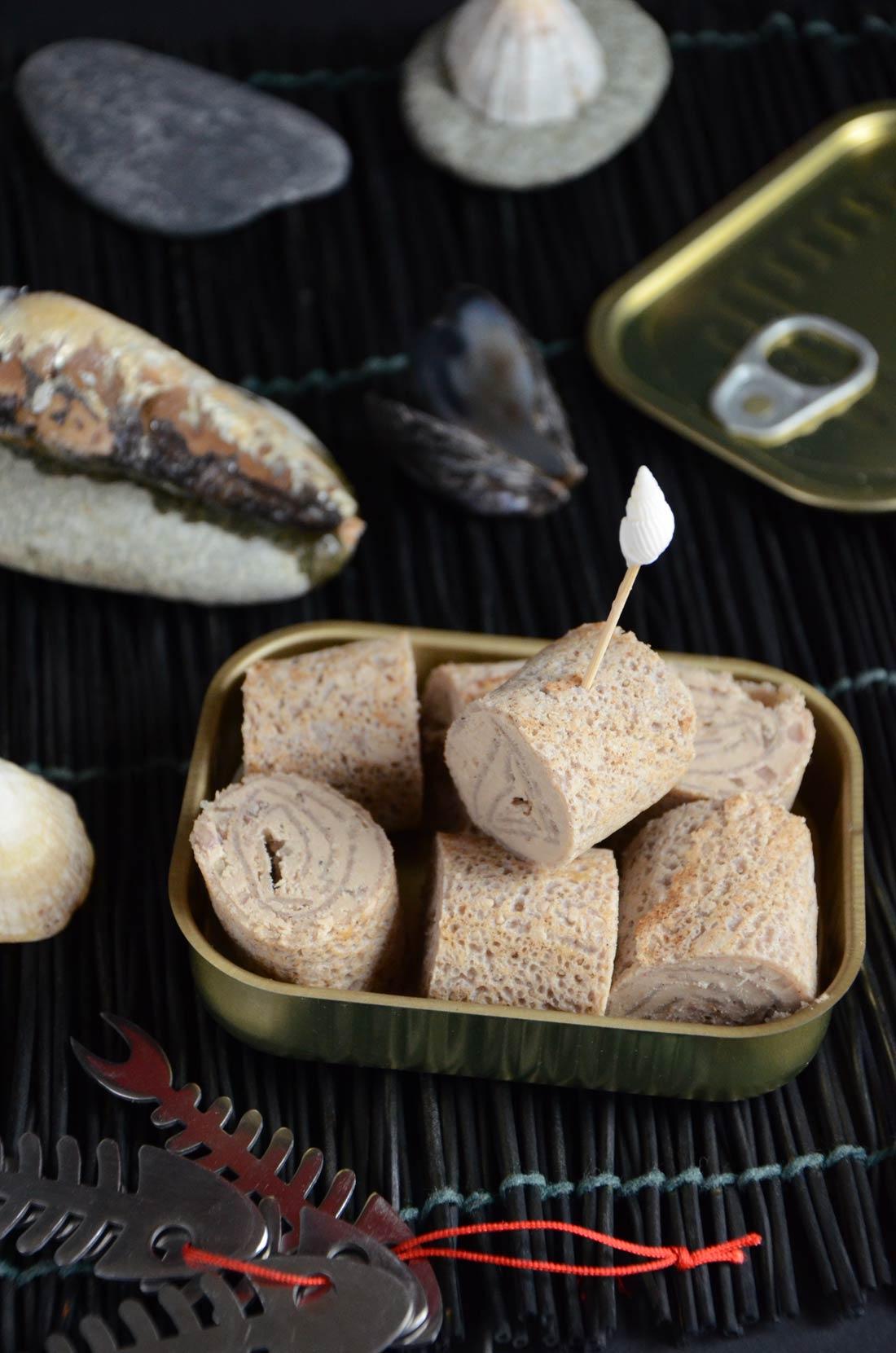 Roulés de crêpes au beurre de sardine