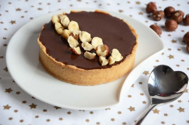 Tarte gianduja au chocolat maison
