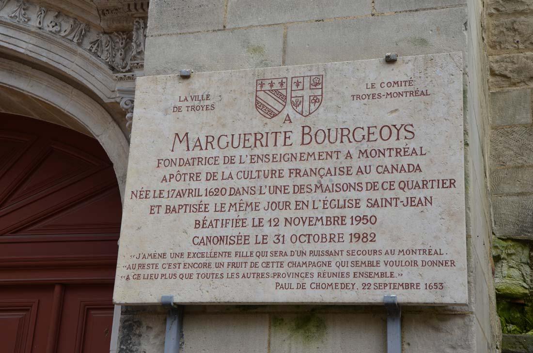 Marguerite Bourgeois, de Troyes au Canada