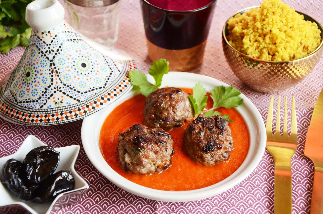 boulettes agneau pruneau orange maison