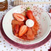 "=""Rhubarbe et fraises rôties maison"""