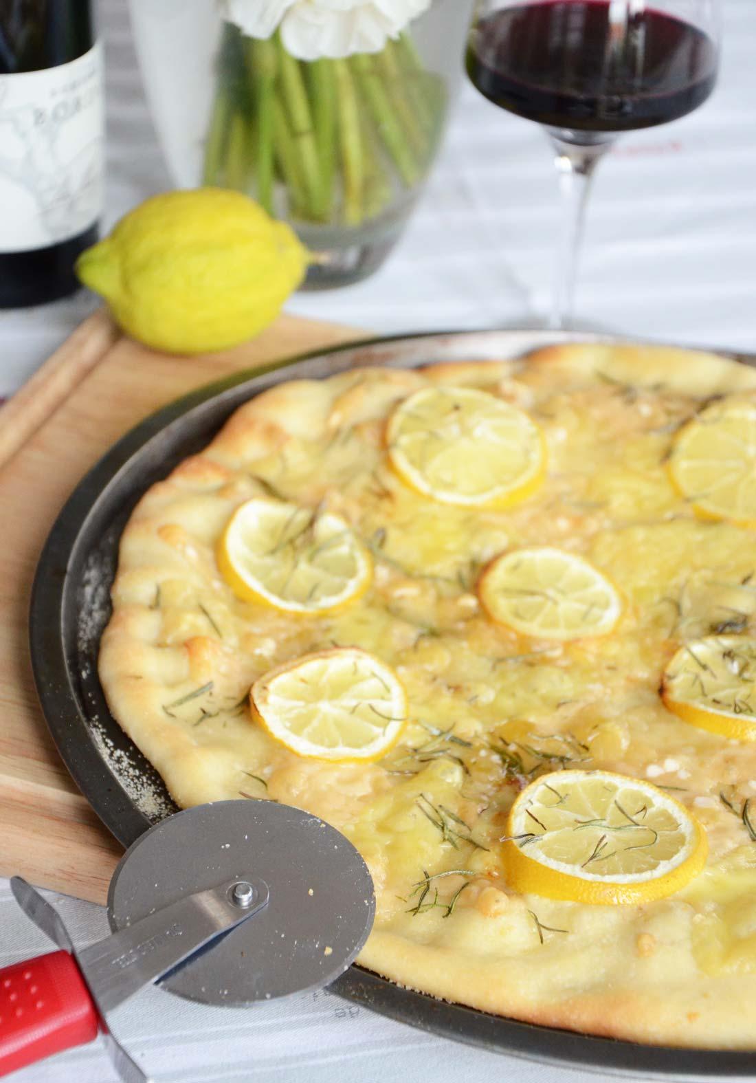 Pizza citron parmesan fait maison
