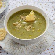 Soupe d'artichaut huile de truffe