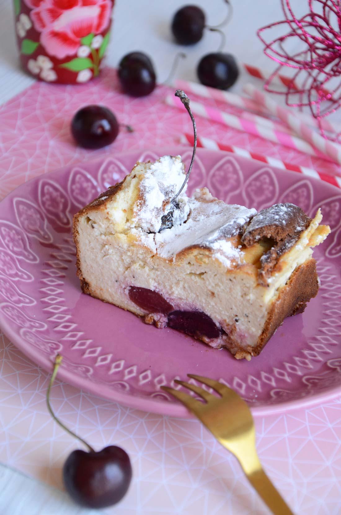 cheesecake aux cerises maison