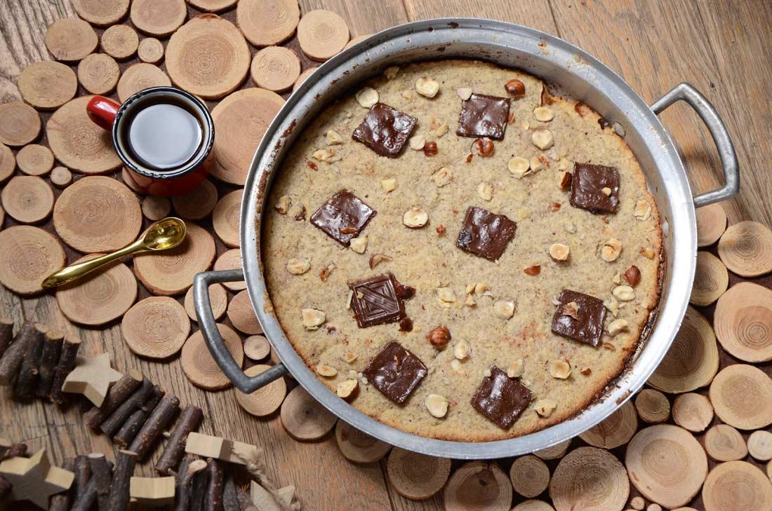 Cookie choco noisette à la poêle fait maison