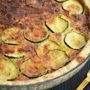 Quiche courgette parmesan