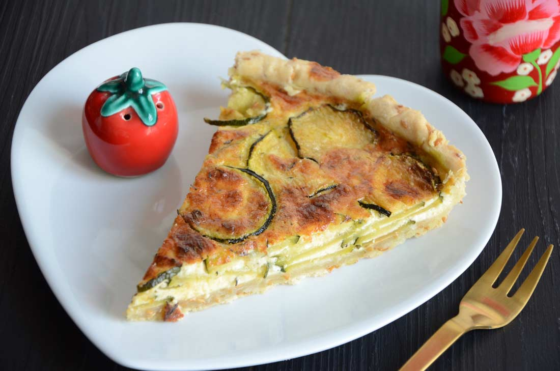 Quiche Courgette Parmesan Gourmande Et Facile