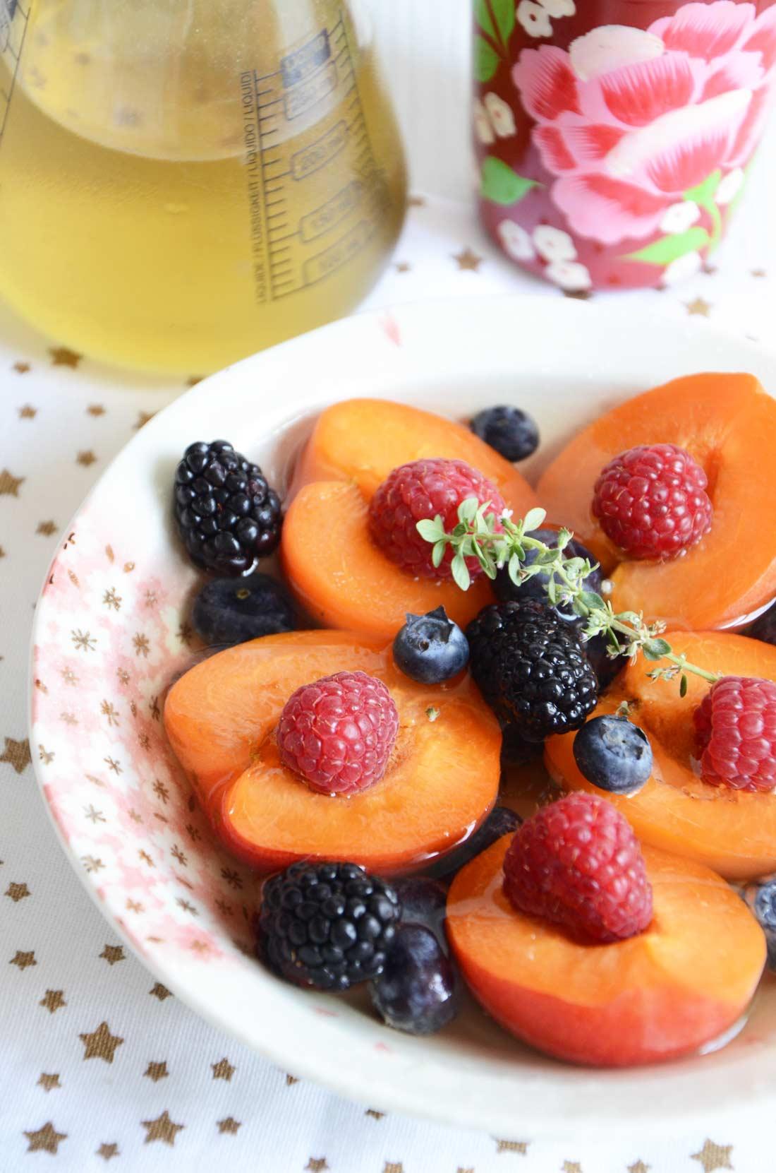 Salade d'abricots à la verveine maison