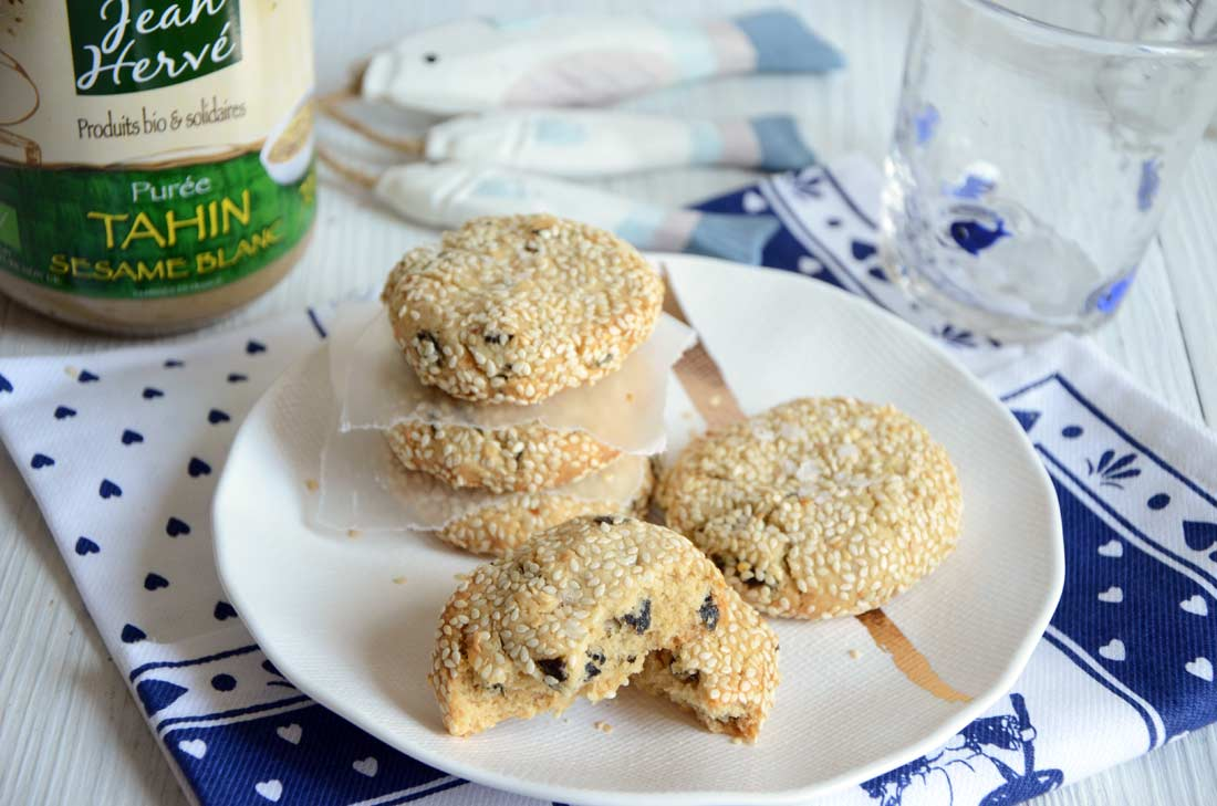 cookies tahini et nori fait maison