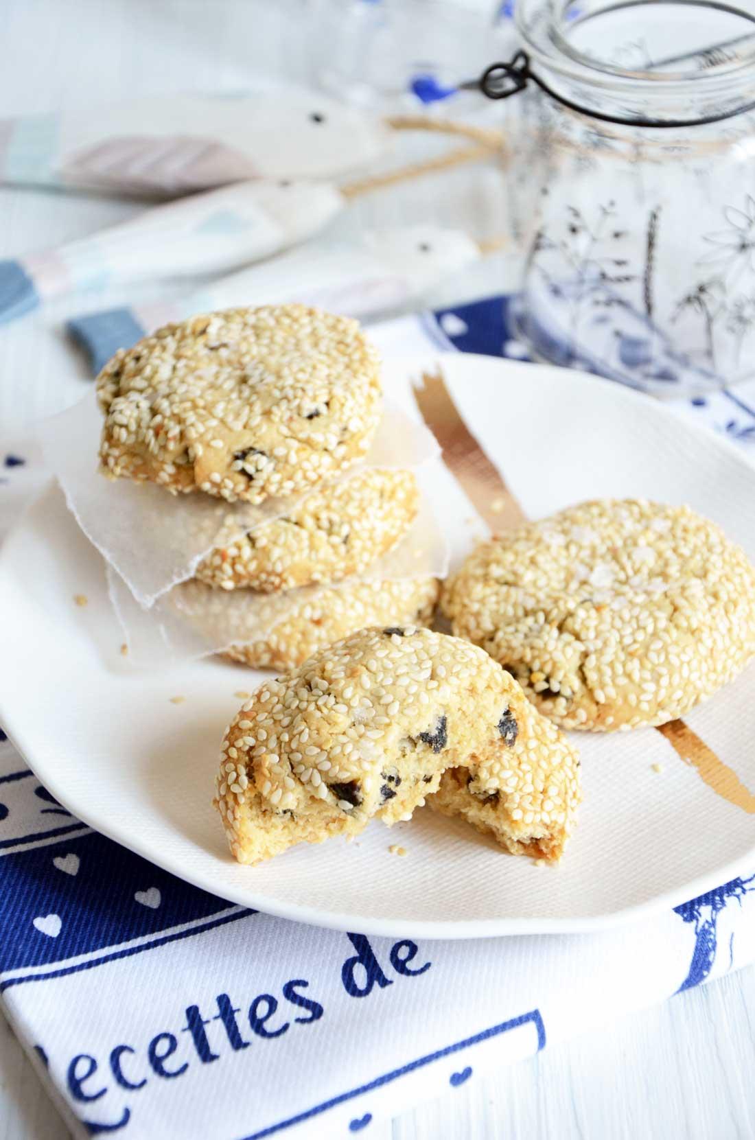 cookies tahini et nori maison