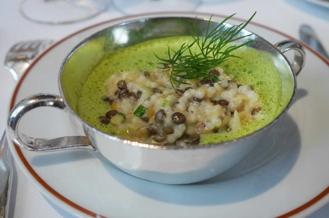 risotto préparé pour Tipiak par Alain Passard