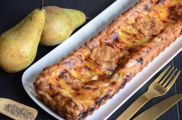 tarte aux poires et maroilles