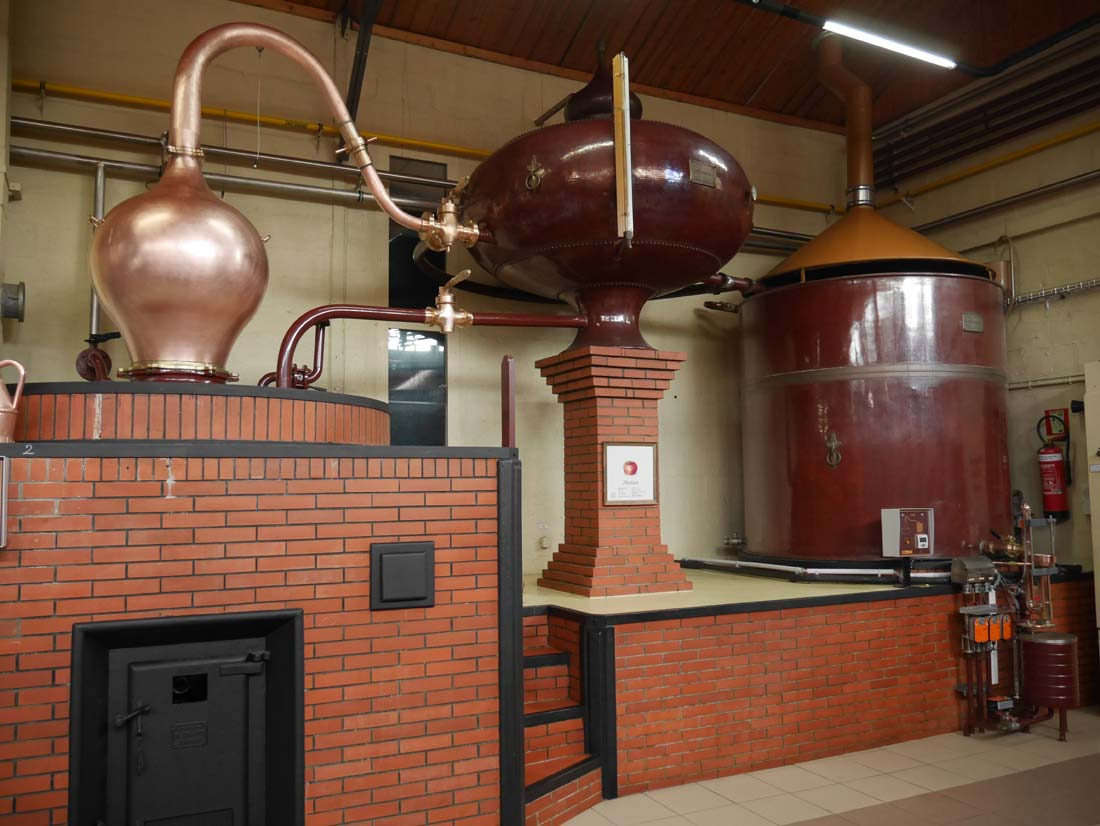 vue alambic double distillation