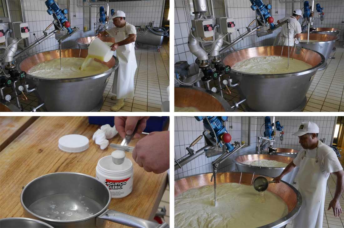 étapes de fabrication du parmigiano reggiano