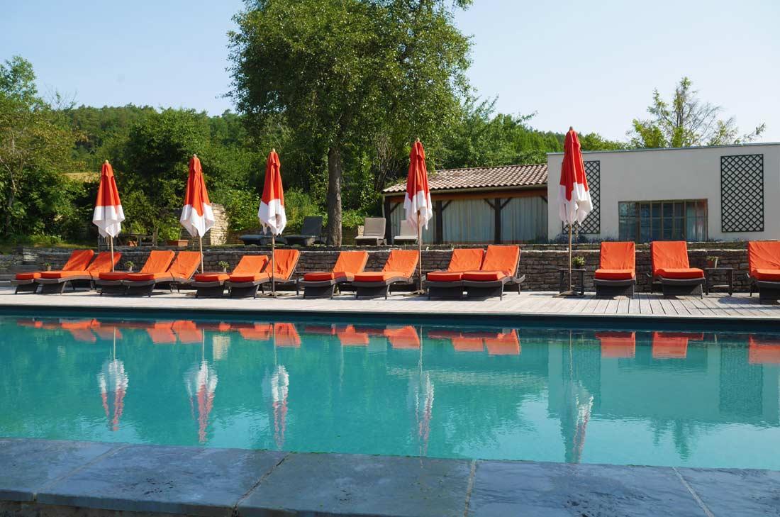 piscine du château de Courban