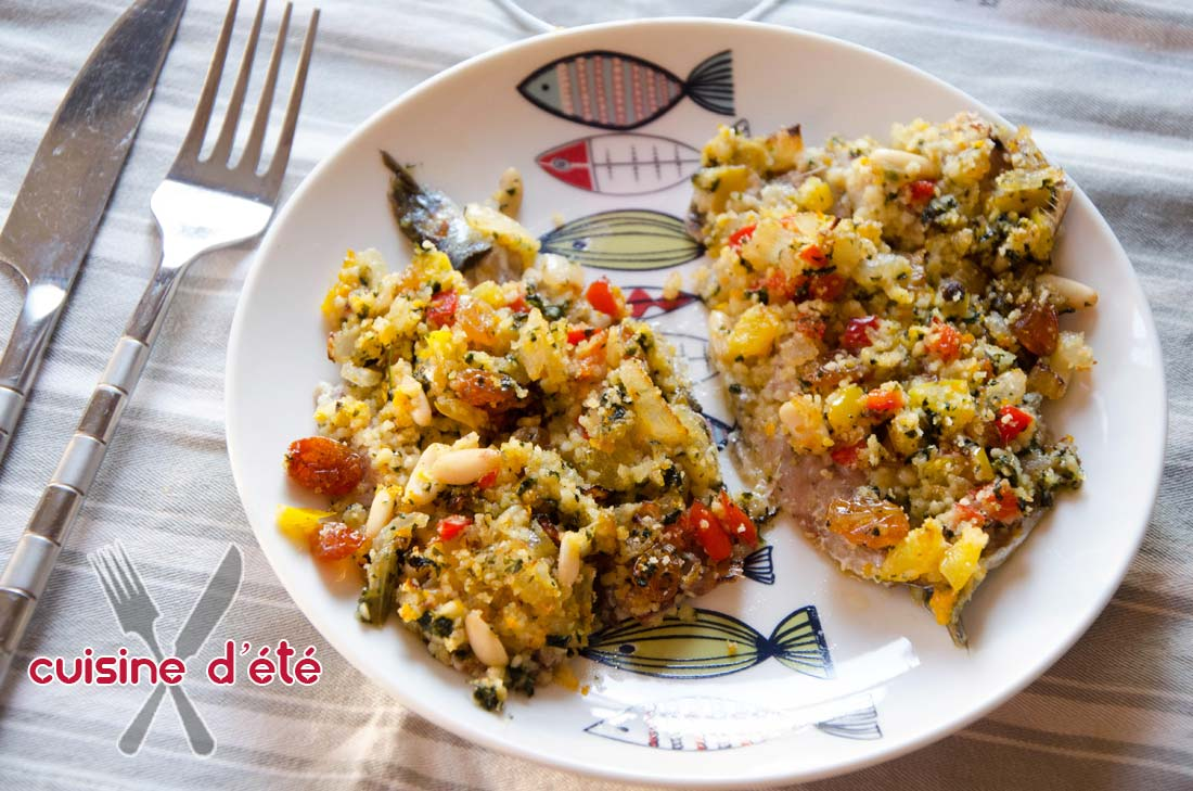 Sardines farcies à l'italienne maison