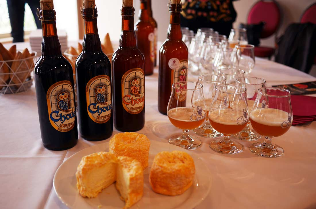 Bières La Choue et fromage de Langres