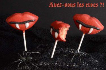 Bouches de vampire à croquer chocolat pâte d'amande