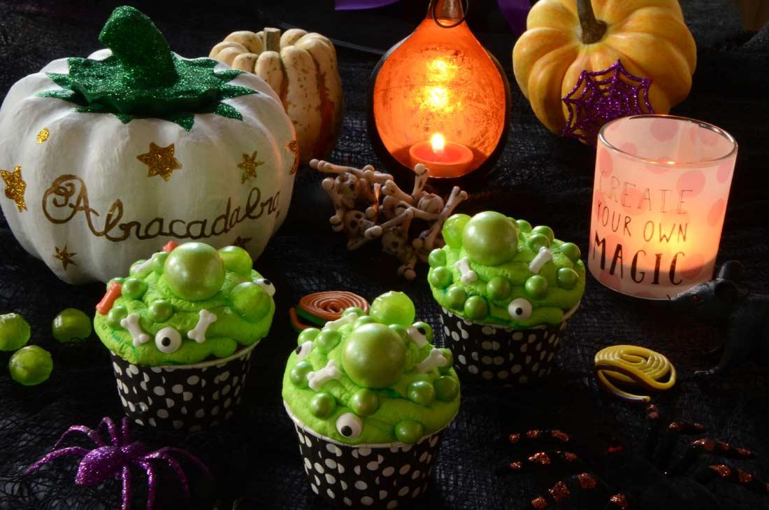cupcakes de la sorcière d'Halloween