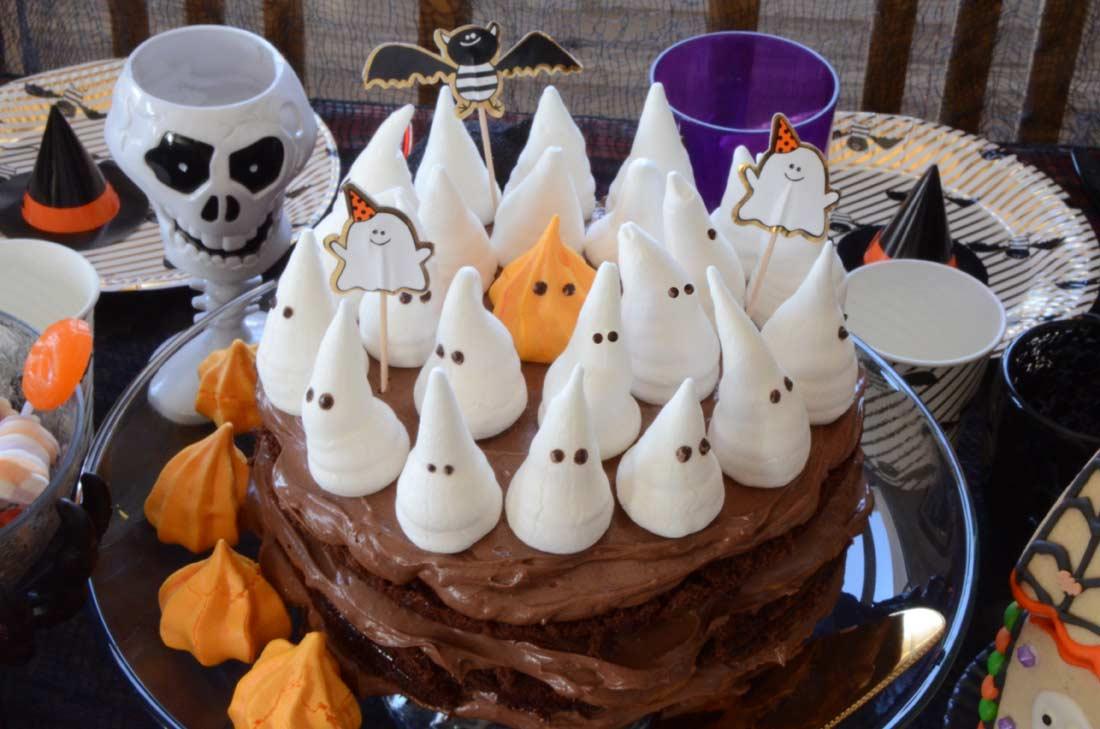 Gâteau moelleux au chocolat pour Halloween
