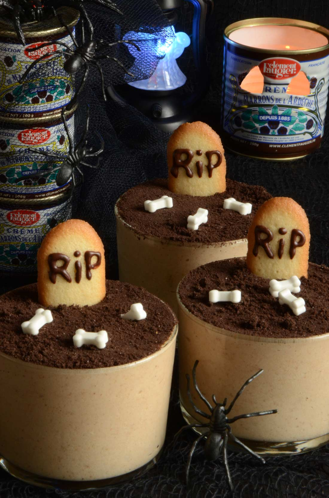 mousse à la crème de marrons Faugier pour Halloween