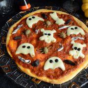 pizzas fantômes maison Halloween