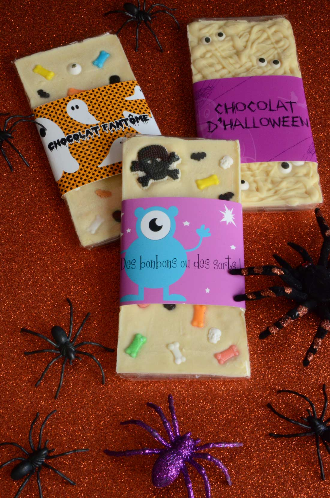 Tablettes de chocolat customisé pour Halloween