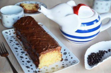 cake chocolat caramel façon Twix fait maison