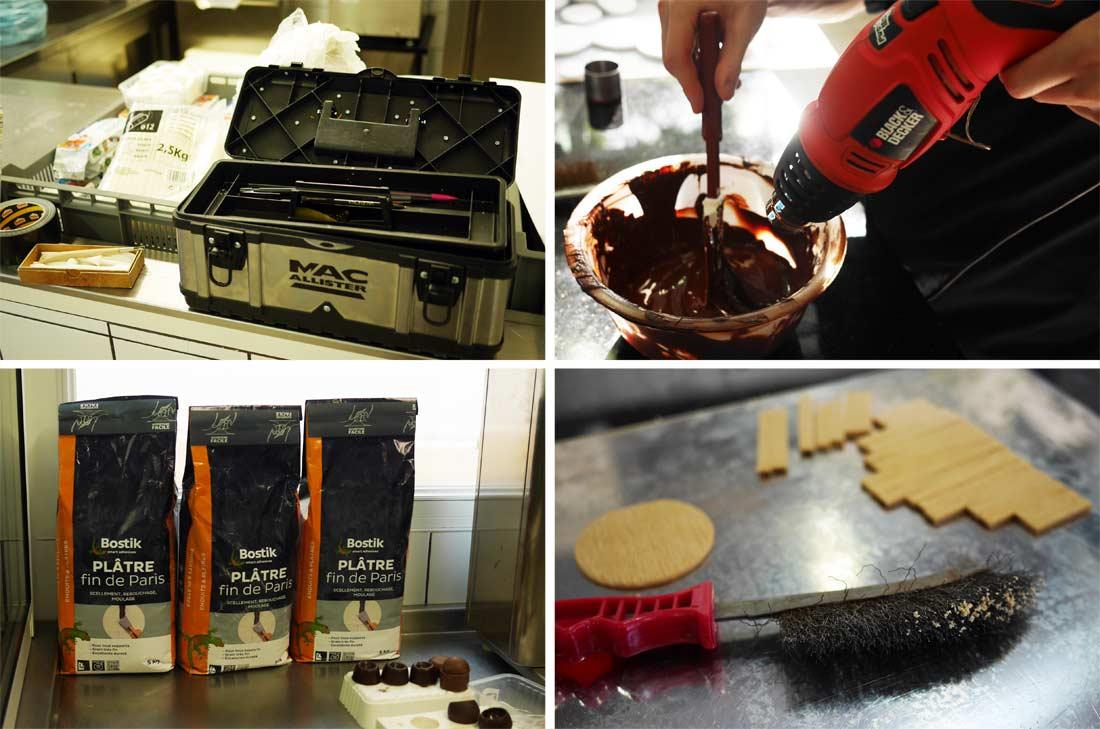 outils bricolage pour travailler le chocolat Valrhona