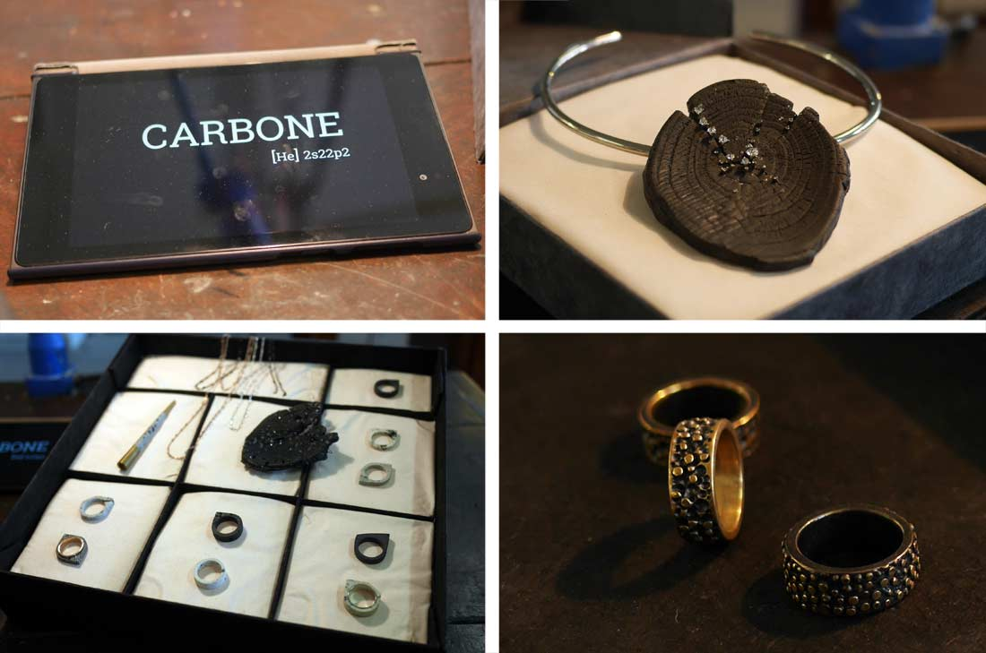 Projet Carbone, joaillerie contemporaine