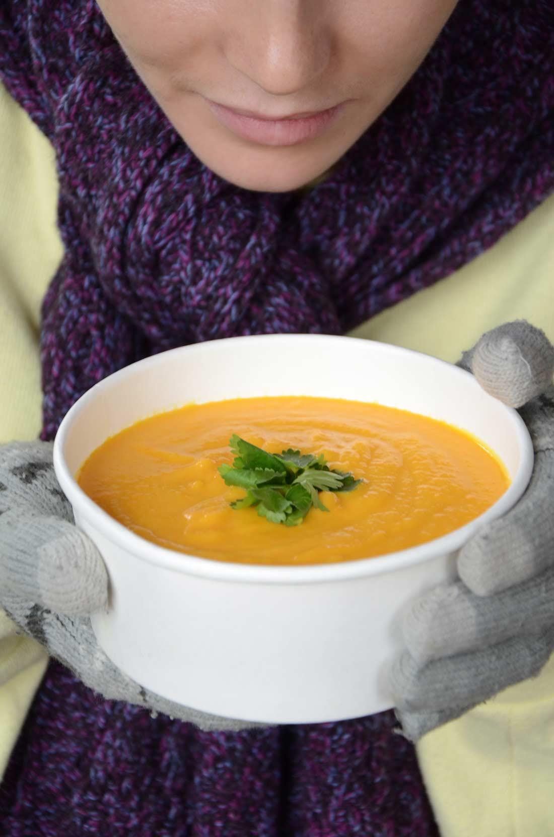 Velouté carottes, gingembre, orange maison