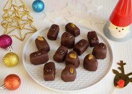 Chocolats pâte d'amande fait maison