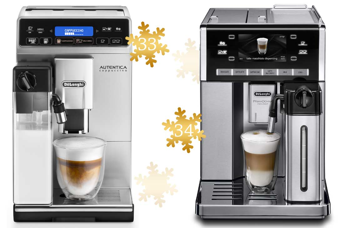 Jolis cadeaux à offrir : Machines à café Delonghi