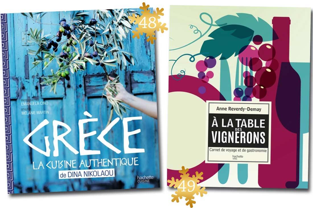 Livres de Dina Nikolaou et Anne Demay-Reverdi A la Table des Vignerons