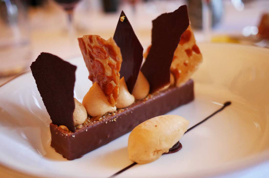 Feuille à feuille chocolat guanaja et nougatine