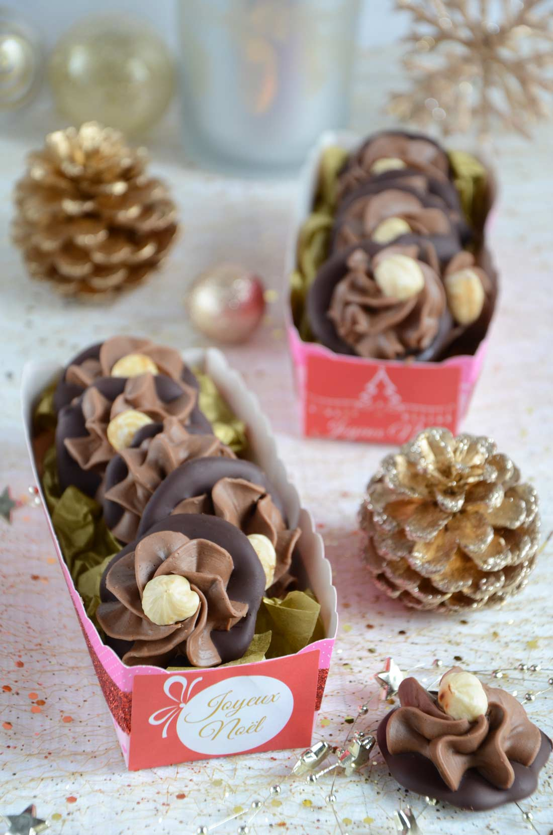 Chocolats gianduja fait maison