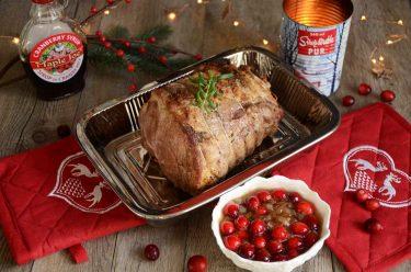 rôti de porc au sirop de cranberry