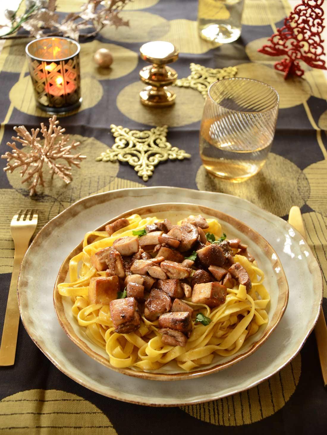 Recette de Tagliatelles aux cèpes et au foie gras