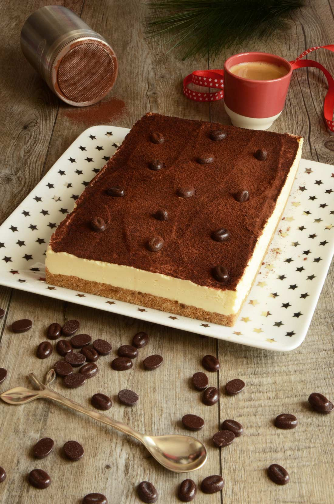 Recette de cheesecake tiramisu, au café et amaretto