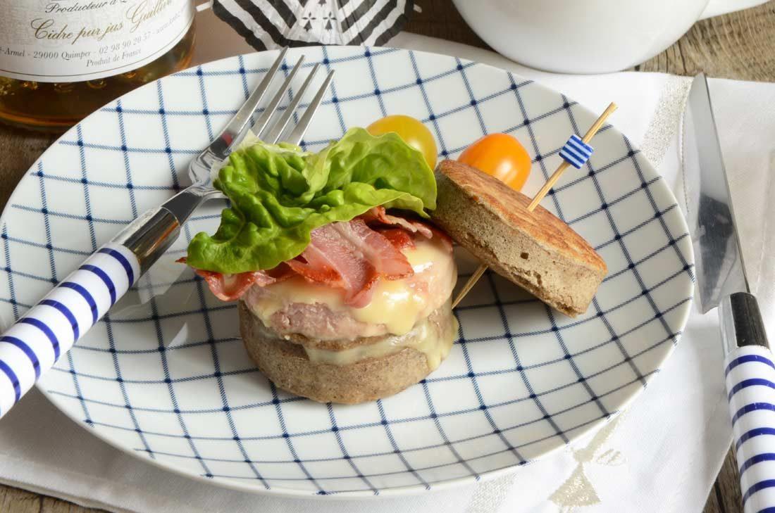 crumpet façon burger breton au pâté hénaff